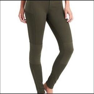 Athleta Moto Zipper Legging Pants